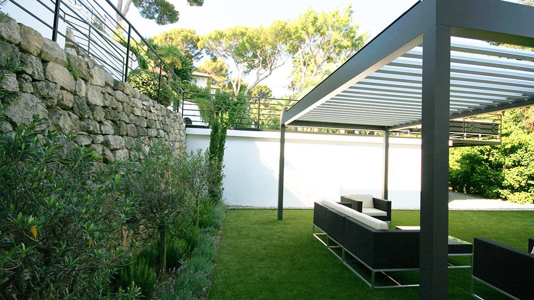 Villa, aménagement du jardin